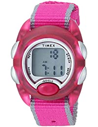 Girls TW2R99000 Time Machines Digital Pink Fabric Strap Watch