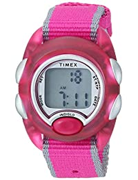 Timex Girls TW2R99000 Time Machines Digital Pink Fabric Strap Watch