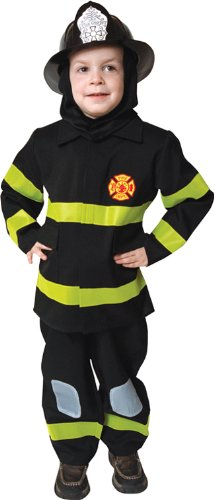 Deluxe Fire Fighter Dress Up Children's Costume Set Size: Medium America Deluxe Firefighter Dress