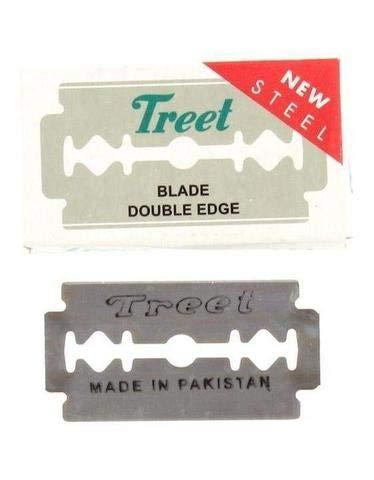 Treet New Steel Double Edge Razor Blades, 100 pack