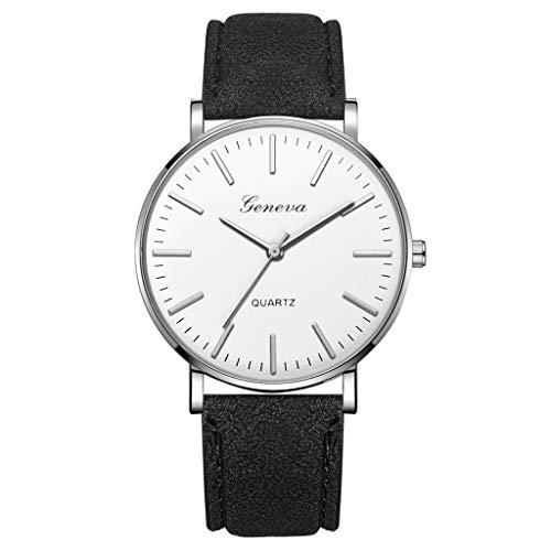 White Dial Chronograph Flight (LUCAMORE Mens Quartz Watch,Luxury Temperament Minimalist Business Date Display Analog Wrist Watches Mesh Leather Strap)