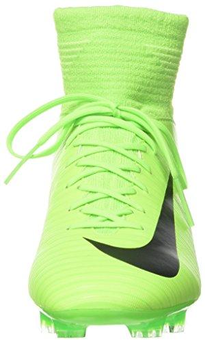 NIKE Kids Mercurial Superfly V FG Electric Green/Black/Flash Lime Soccer Shoes - 4Y - Image 4
