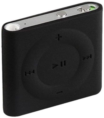 eForCity Silicone Skin Case for iPod Shuffle 4G (Black) DAPPSHUFSC08