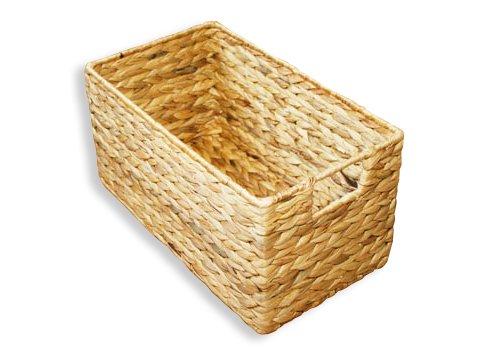KMH®, Praktische Korb-Box aus geflochtener Wasserhyazinthe (#204035)