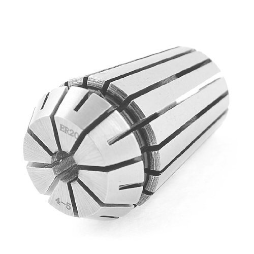 uxcell Round Chuck Mill Stainless Steel Spring Collet ER20 ER-20 4mm-5mm