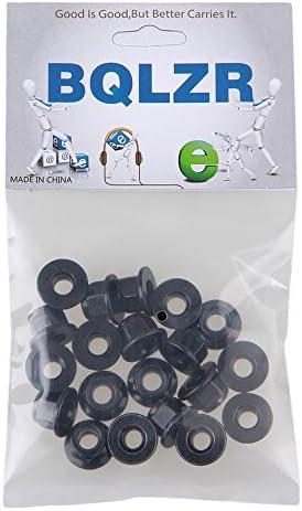 BQLZR M6/Noir Zinc plaqu/é en acier au carbone /à t/ête hexagonale /Écrou de verrouillage de Bride Insert /Écrous de verrouillage Lot de 20