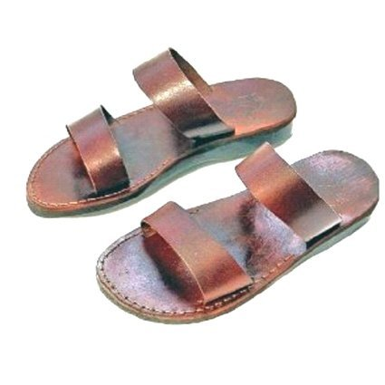 Holy Land Market Unisex Adults/Children Genuine Leather Biblical Yashua) Sandals/Flip Flops (Jesus - Yashua) Biblical The Good... B0080P194I Parent 997815
