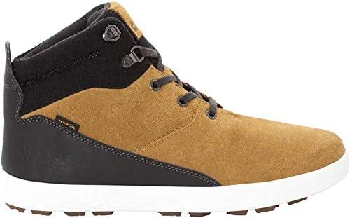 Jack Wolfskin Auckland WT Texapore MID Men s Waterproof Fleece Lined Winter Sneaker Chukka Boot, Light Brown Black, US 9 D US