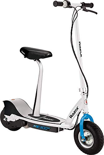 Razor E300S Scooter Eléctrico, Juventud Unisex, Blanco/Azul, 10