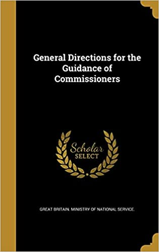 Book General Directions for the Guidance of Commissioners