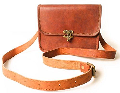 Handmade Cross Body Purse by Artishus - Genuine Leather - Women Brown Purse - Shoulder Sling Bag