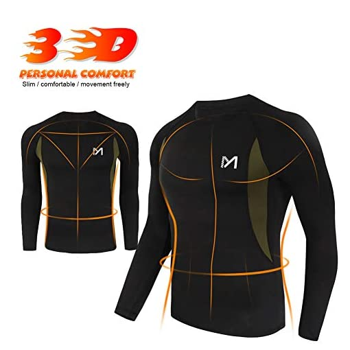 Mens Thermal Underwear Set Wicking Quick Dry Base Layer Sport Compression Suit for Workout Skiing Running Hiking