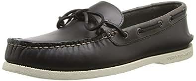 Sperry Top-Sider Men's A/O 1 Eye Boat Shoe, Dark Grey, 7 M US
