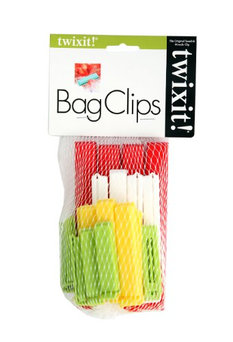 Linden Sweden Twixit Clip Bag Sealers, Set of 20 Assorted