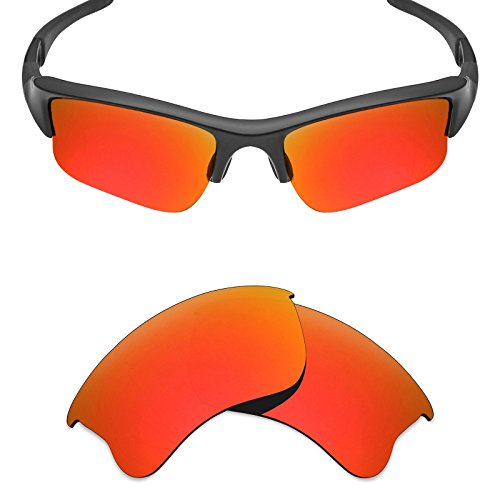 Mryok UV400 Replacement Lenses for Oakley Flak Jacket XLJ - Fire Red ()