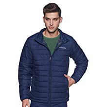Columbia Powder Lite Jacket Chaqueta, Hombre, Azul (Collegiate Navy), M