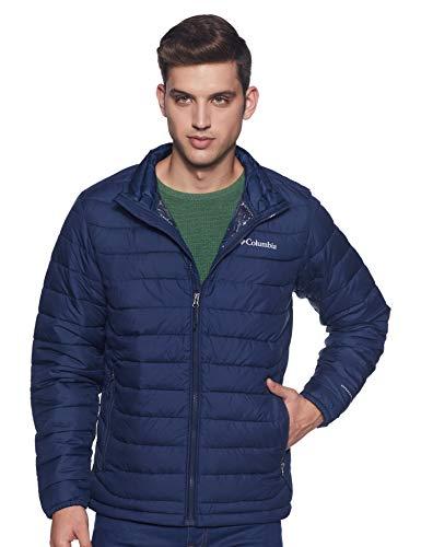 Columbia Men's Powder Lite Winter Jacket, Water repellent, Collegiate Navy, Large