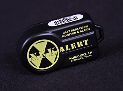 NukAlertTM Nuclear Radiation Detector/Monitor (Keychain Attachable) Alarm