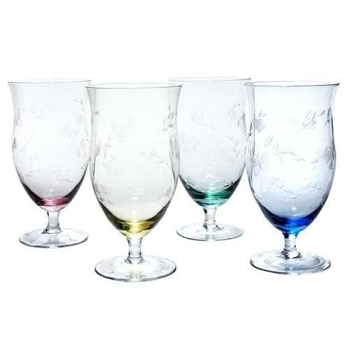 Lenox Butterfly Meadow Multi-Colored All Purpose Glasses, Set of ()