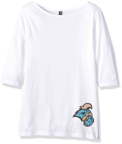 Campus Merchandise NCAA Coastal Carolina Chanticleers Women's 3/4 Sleeve Tee Shirt, White, Size 4X