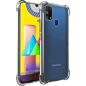 Amazon Brand – Solimo Mobile Cover (Soft & Flexible Shockproof Back Case with Cushioned Edges) for Samsung Galaxy M31…