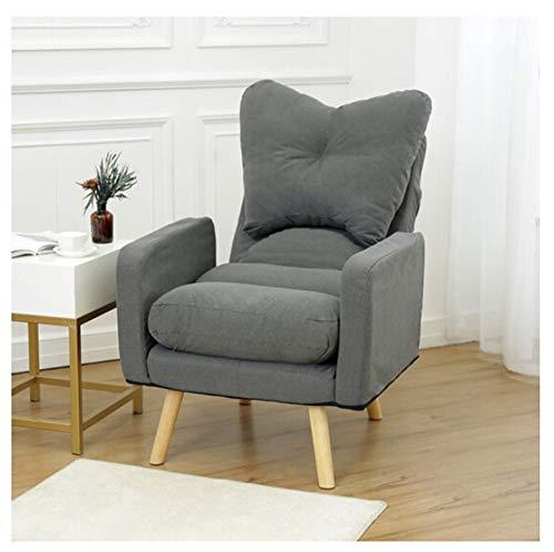 QXX Lazy Couch Theat Fabric Chair Oficina Plegable de la ...