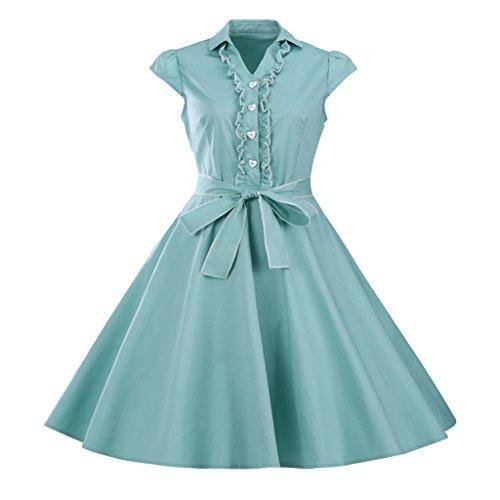 1950 button dress - 7