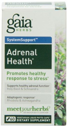 Gaia Herbs surrénale santé, 60 liquide Phyto-Capsules