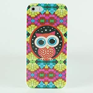 QJM Cute eyes Owl Pattern Hard Case for iPhone 5/5S
