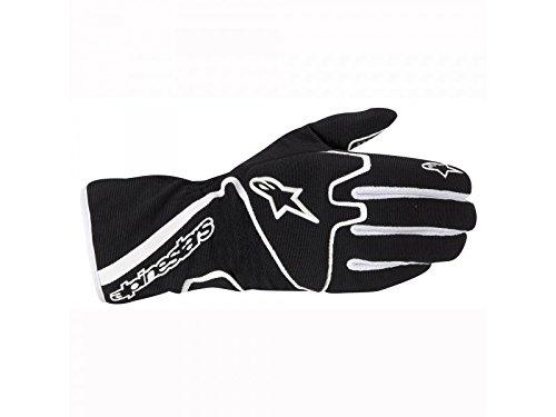 ALPINESTARS TECH 1-K RACE GLOVES - BLACK/WHITE - SIZE XL (Alpinestars Gloves Xl)