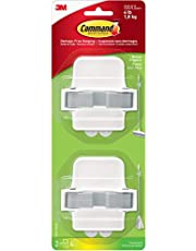 Command Mop & Broom Holder Wall Mount, Holds up to 4 lbs, 2 Grippers with 4 Large Command Strips