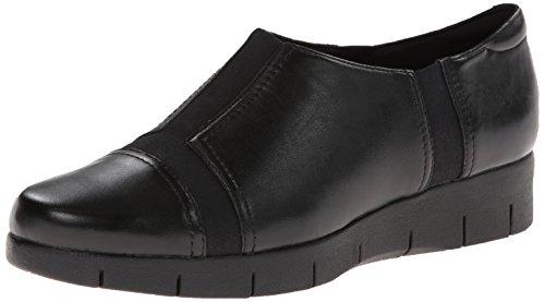 Clarks Mujeres Daelyn Plaza Flat Black Leather