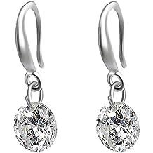 CAETLE ®Round Shine Bling Bling Zirconia Dangle Earrings Lady Girl