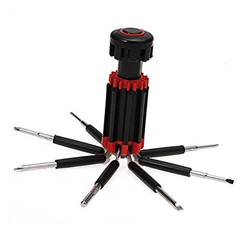8 in One Multi-Screwdriver with LED Torch (Black/Red) - 2
