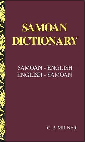 Samoan Dictionary: Samoan-English, English-Samoan: G  B