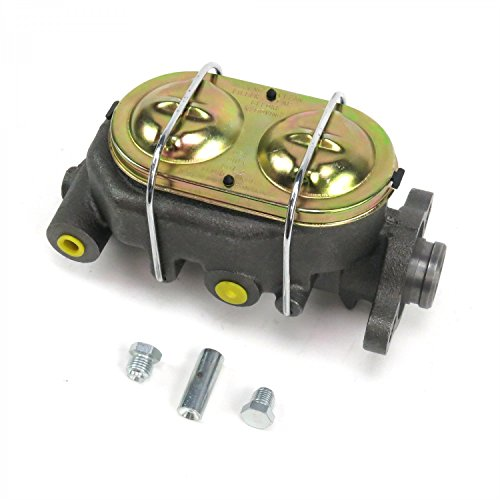 Helix Suspension Brakes and Steering MC1321H Cast Iron 1 Bore Master Cylinder, GM Corvette Style Universal with 4 ports (Booster Brake Power Steering)