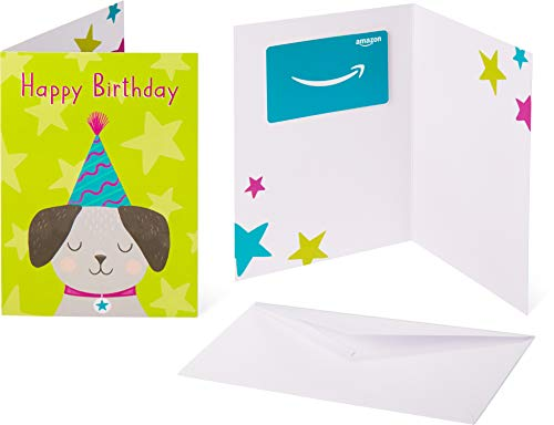 Amazon.com Gift Card in a Greeting Card - Birthday Pup Design