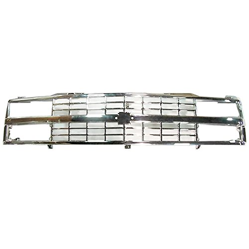 Grille Grill All Chrome Front End for Chevy Blazer 1500 2500 3500 Pickup Truck ()