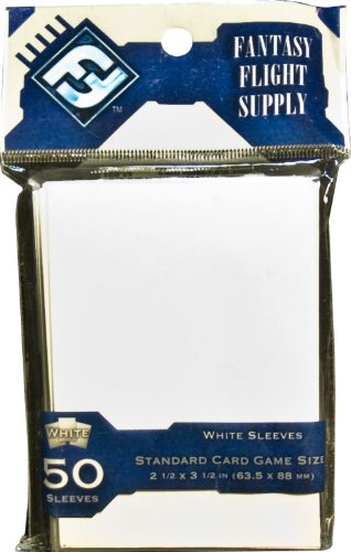 Fantasy Flight Supply: Card Sleeves - Standard White (50 - Card 100 Standard