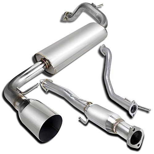 Honda Crx Cat - Spec-D Tuning MFCAT2-CRX88 Honda Crx Si Base 3 Door Hatchback Full Catback Exhaust System