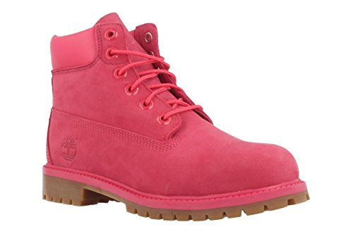 Timberland Kids Girl's 6'' Premium Waterproof Boot (Big Kid) Red Rose Waterbuck 6 M US Big Kid by Timberland