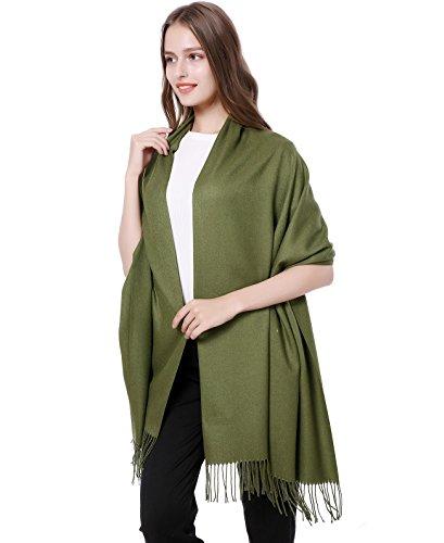 Us Army Fringed - JAKY Global Cashmere Scarf Pashminas Wraps Shawl Super Soft and Warm 70