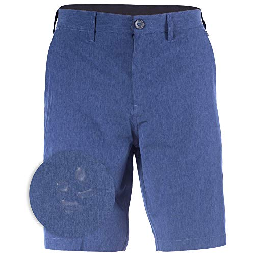 Hybrid Boardshorts for Men Quick Dry Shorts Solid Big Mens Chino Shorts Navy - 42