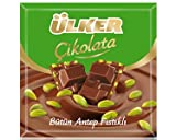 ulker chocolate - Ulker Turkish Milk Chocolate with Pistachio (Sutlu Fistikli Cikolata) 6 x 70 Gr
