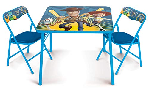 41MFCBnBCKL - Jakks Pacific Toy Story Activity Table Set with Two Chairs