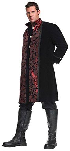Vampire Costumes For Couples (Underwraps Costumes  Men's Gothic Vampire Costume - Vampir, Black/Red, One Size)