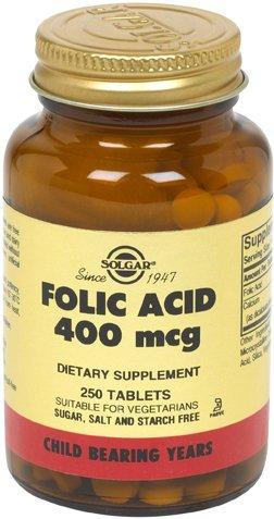 Solgar - L'acide folique, 400 mcg, 250 comprimés