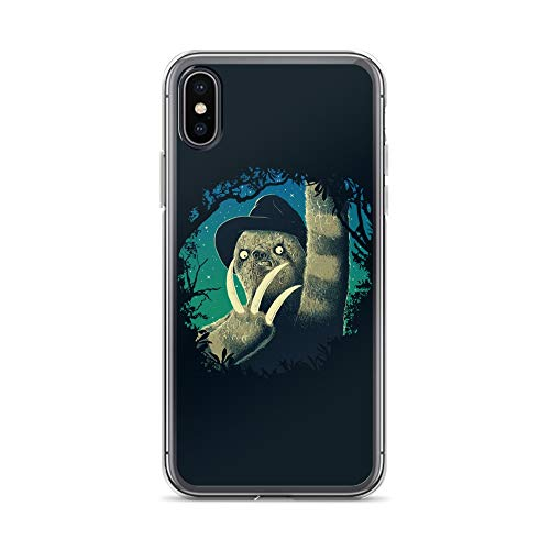 iPhone X/XS Case Anti-Scratch Animated Cartoon Transparent Cases Cover Sloth Freddy Cartoons Caricature Crystal Clear -