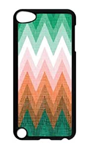Ipod 5 Case,MOKSHOP Cute patterns abstract colors parallax 1 1 6 Hard Case Protective Shell Cell Phone Cover For Ipod 5 - PC Black