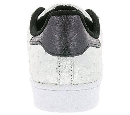 adidas Superstar Foundation, Scarpe da Ginnastica Basse Unisex - Adulto Argento Aq4701